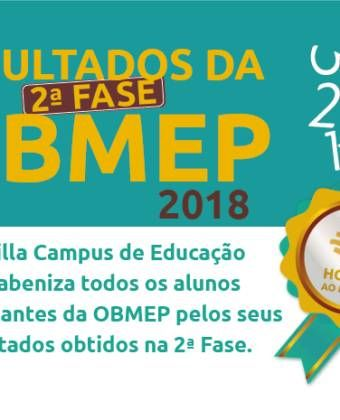 Resultados da 2ª fase OBMEP 2018