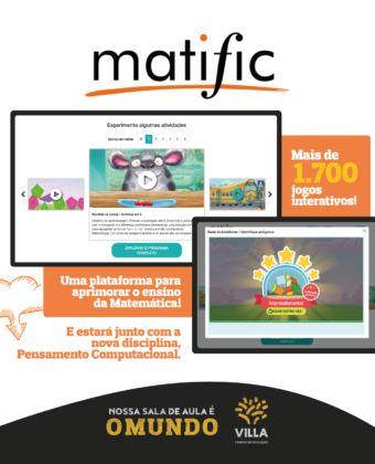 Matific e o Pensamento Computacional na Educação Infantil do Villa!