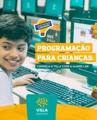 Programação para crianças: conheça o Villa Code & Maker Lab!