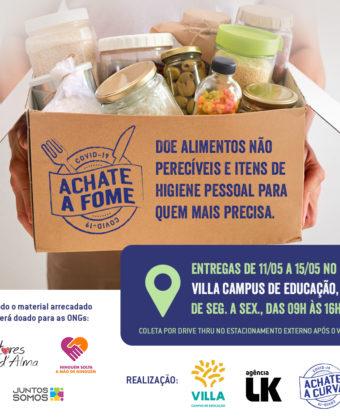 Villa realiza campanha para arrecadação de alimentos para famílias impactadas pelo coronavírus